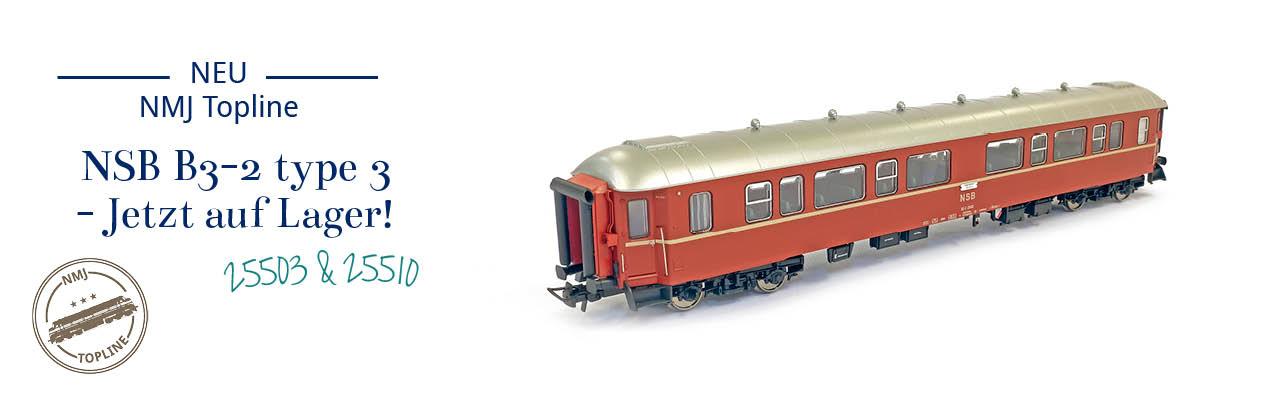 NMJ Topline NSB B3-2 typ 3 personenwagen - jetzt auf Lager! NMJT130.101 und 130.102.
