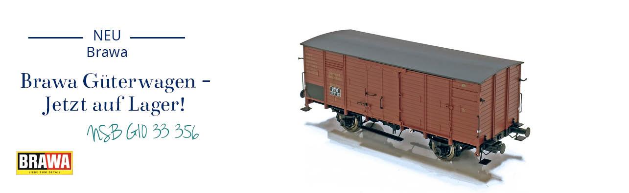 Brawa 49065 NSB Gedecter Güterwagen G10 33 356 jetzt auf Lager.