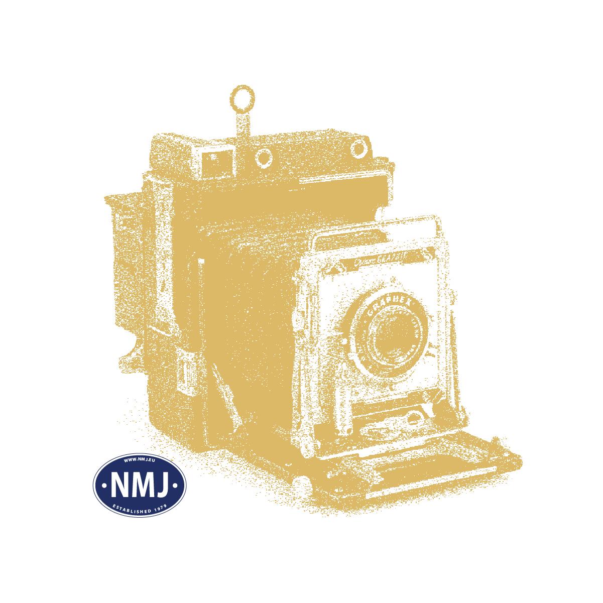 NMJT134.101 - NMJ Topline NSB DF37 21304, Gepäck und Schaffnerwagen, rotbraun