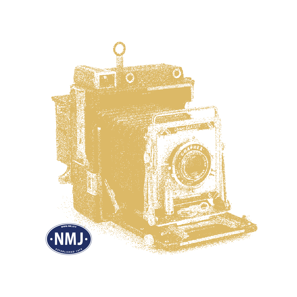NMJT505.301 - NMJ Topline Rps 31 76 393 3 013-1 Flachwagen NSB mit Finsam Holzschnitzelcontainer