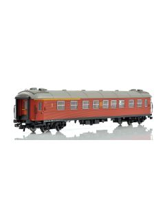 Topline Personvogner, NMJ Topline SJ AB2 4854 1 Cl./2 Cl Passenger coach in the original livery and lettering after 1970., NMJT202.002