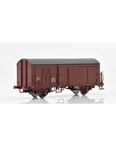 Topline Godsvogner, NMJ Topline model of the NSB His 210 2 198-9 boxcar type 1 with wooden roof and brakeman`s platform., NMJT504.103