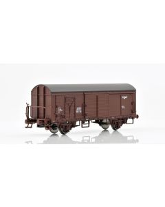 Topline Godsvogner, NMJ Topline model of the NSB His 210 2 496-7 boxcar type 1 with wooden roof and brakeman`s platform, NMJT504.101