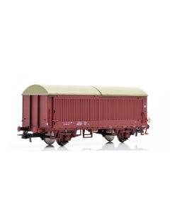 Topline Godsvogner, NMJ Topline model of the NSB His 210 2 998-2 boxcar type 5 with steel walls, fiberglass roof and brake wheels, NMJT504.502