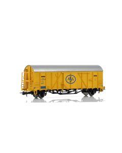 Topline Godsvogner, NMJ Topline model of the SJ G 50233 ASG box car in the intermediate yellow livery. , NMJT604.509
