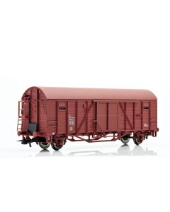 Topline Godsvogner, NMJ Topline model of the SJ Gbls-u 156 5 501-9 boxcar with end wall doors and high short brakeman`s platform. , NMJT604.202