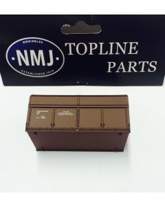 Topline Deler, NMJ Topline wood chip container short type brown., NMJT505.991