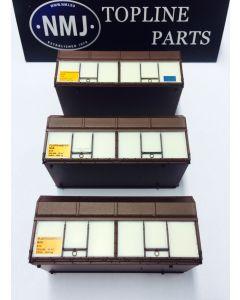 Topline Deler, NMJTopline NSB/Finsam set consisting of 3 wood chip container of the long Finsam type, NMJT505.990