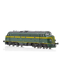 Topline Lokomotiver, NMJ Topline model of the SNCB 202020 in original livery and as museum locomotive DCC Sound