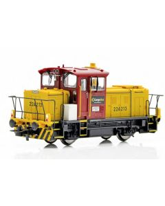 Topline Lokomotiver, New improved SUPERVERSION of the CargoNet SKd 224.213 DCC digital version with new improved Main PCB with built-in Decoder, Kondensator, with exits for automatic couplers and metal gears,  makes this the perfect shunting tractor, , NM