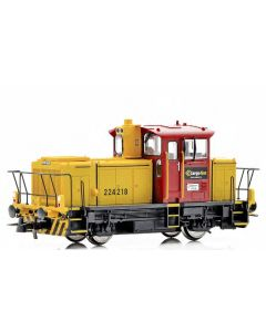 Topline Lokomotiver, New improved SUPERVERSION of the NSB CargoNet SKd 224.213 DCC digital version with new improved Main PCB with built-in Decoder, Kondensator, with exits for automatic couplers and metal gears,  makes this the perfect shunting tractor.,
