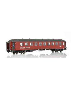"""Topline Personvogner, NMJ Topline model of NSB passenger coach CB2 21225 (Ex NSB B4) """"Intercity Spesial"""" in red/black livery., NMJT132.304"""