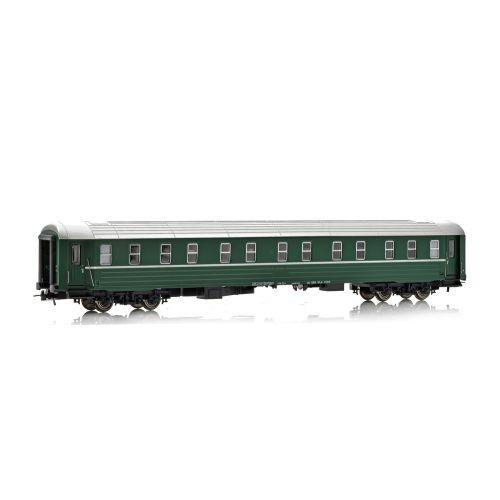 Topline Personvogner, NMJ Topline model of Ofotbanen WLA 21012, 1 Ck, sleeping car in the green OBAS design., NMJT102.402