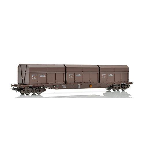 Topline Godsvogner, NMJ Topline model of the NSB Rps 31 76 393 3 013-1 with Finsam old type and smaller wood chip boxes, NMJT505.301
