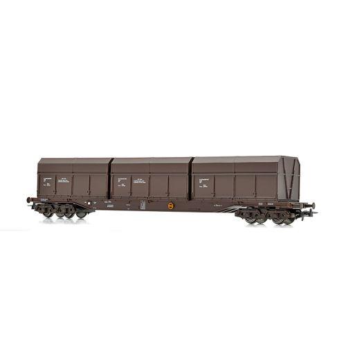 Topline Godsvogner, NMJ Topline model of the NSB Rps 31 76 393 3 202-3 with Finsam brown old type wood chip boxes., NMJT505.303