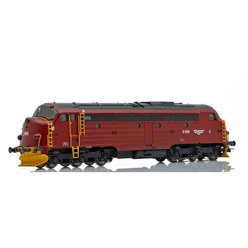 Topline Lokomotiver, NMJ TOPLINE modell of NSB Di3a, short type, 18600mm= H0 213,8mm length over buffers. DCC digital with sound - ESU Loksound V4 M4.