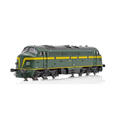Topline Lokomotiver, NMJ Topline model of the SNCB 202003 with dynamic brakes, DCC Sound., NMJT90402