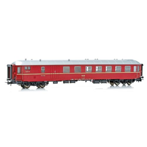 Topline Personvogner, NMJ Topline model of NSB BF10 21511 compartment-, luggage and conductors coach in the old NSB design ., NMJT133.102